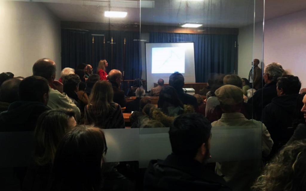 reunião de moradores de Caxias sobre a VLS
